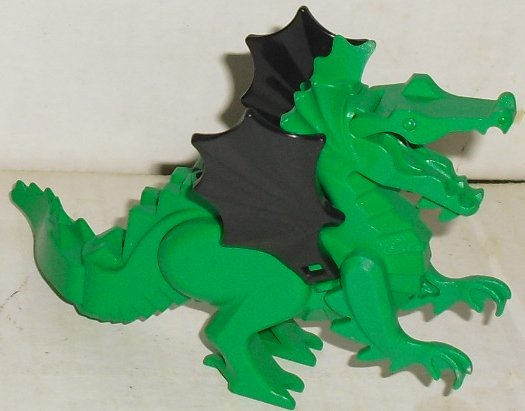 LEGO Castle Part Green DRAGON with black wings