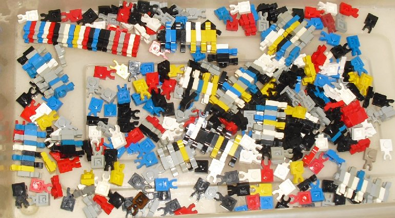 LEGO Parts lot of 410 plate 1 x1 with Clip Vertical mixed colors