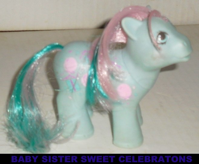 G1 Vtg 1986 My Little Pony MLP BABY SWEET CELEBRATIONS