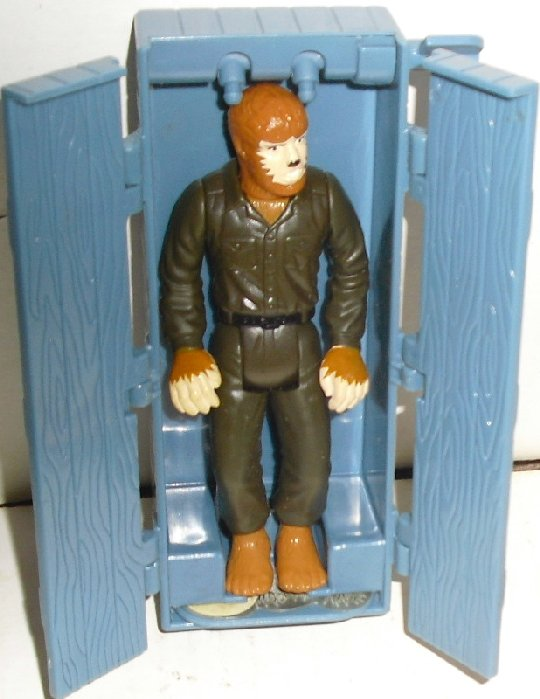 "Universal Monsters WOLFMAN figure 4"" & coffin, Burger King"