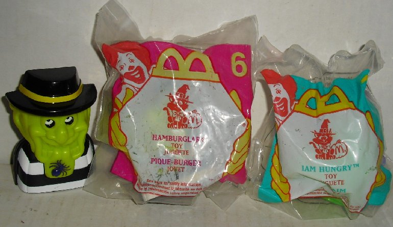 Lot of 3 HALLOWEEN: one IAM HUNGRY & two HAMBURGLAR, 1998 McD