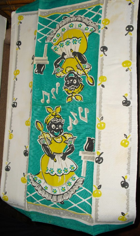 Vintage BLACK AMERICANA Mammy Tea Kitchen Towel
