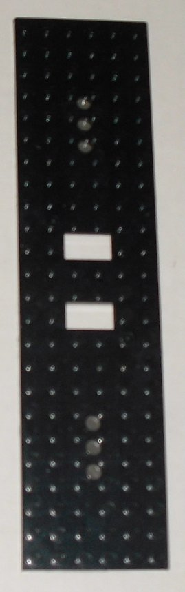 LEGO Part black plate 6x24 with holes