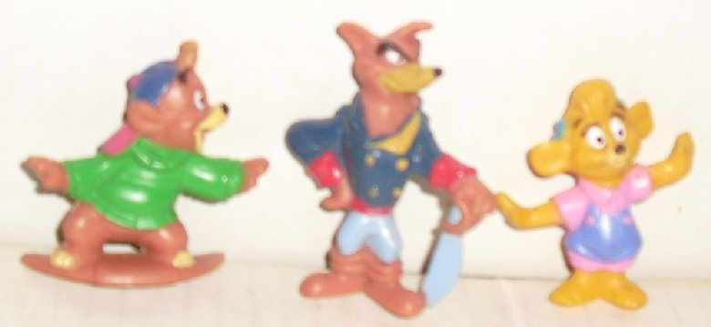 Kelloggs Disney PVC Figures Lot of 3 GUMMI & RESCUE