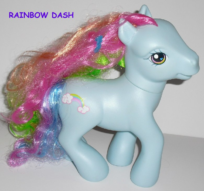 G3 Hasbro My Little Pony MLP big Styling RAINBOW DASH