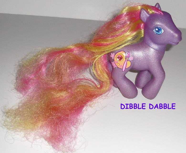 G3 MLP Hasbro My Little Pony DIBBLE DABBLE Long Hair