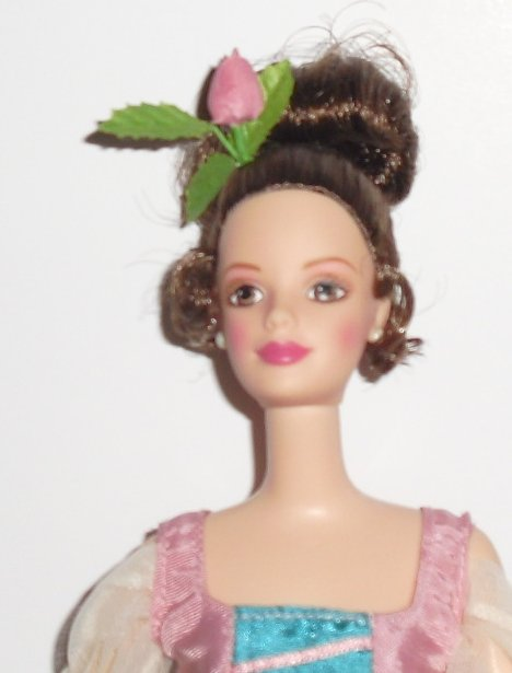 CE BARBIE Doll brown hair up-do dressed