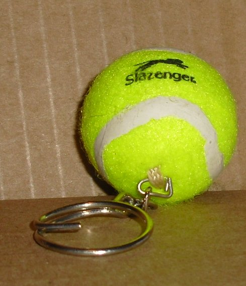 SLAZENGER Mini TENNIS BALL keyring key chain 1.5""