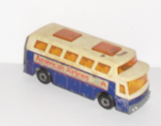 Vintage LESNEY Matchbox no65 AIRPORT COACH AMERICAN AIRLINES bus