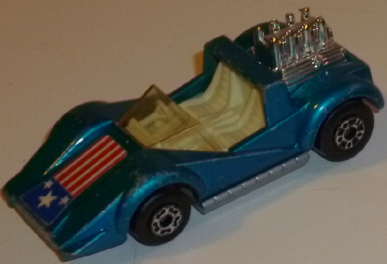 Vintage 1975 LESNEY Matchbox Super Fast no55 blue HELLRAISER car