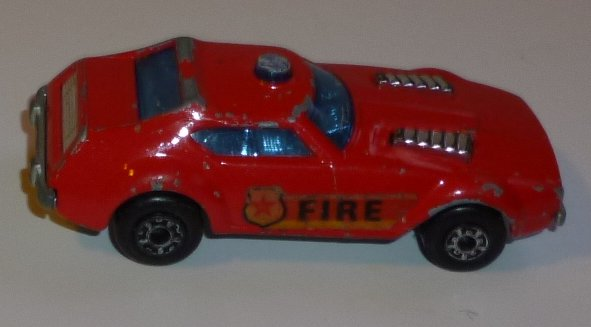 Vintage 1976 LESNEY Matchbox no 84 FIRE CHIEF toy car