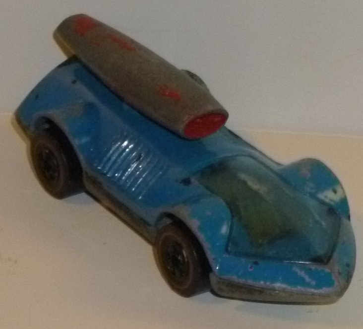 Vintage HOT WHEELS Redline Car 1970 blue ROCKET-BYE-BABY /RUB