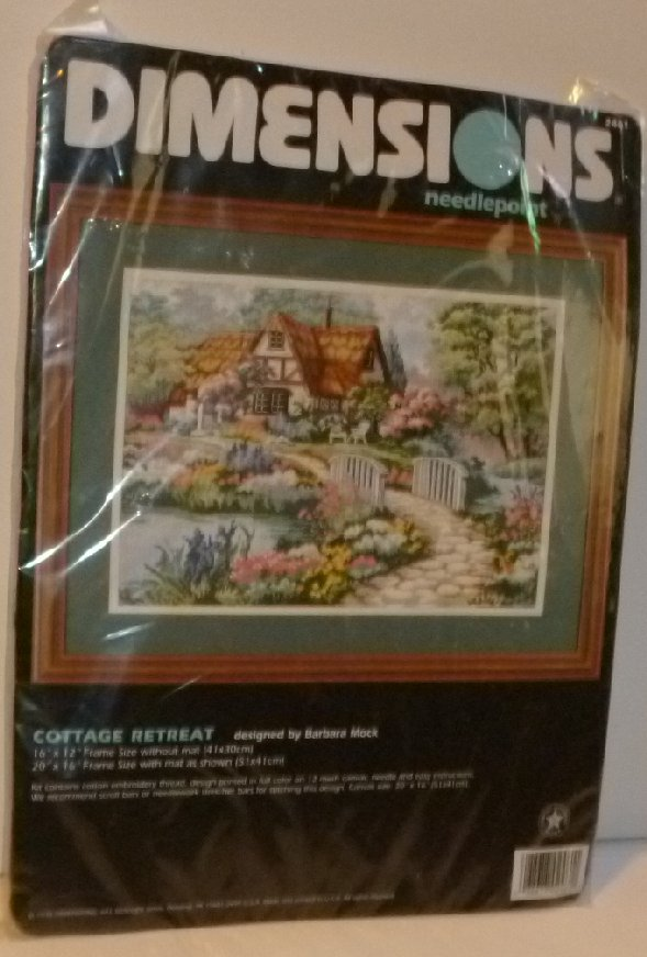 DIMENSIONS Needlepoint COTTAGE RETREAT Kit #2361 MIP