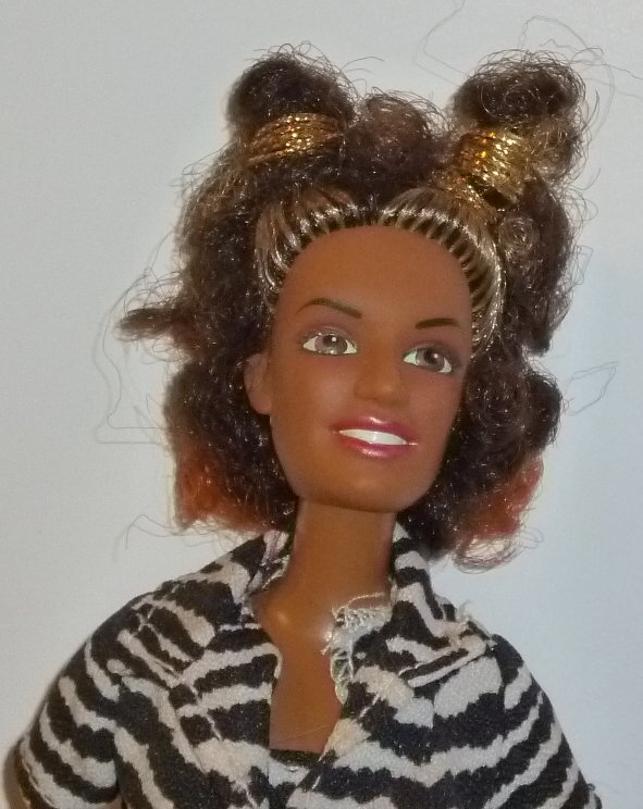 Vtg SCARY SPICE Celebrity vinyl fashion Doll dressed 11.5""