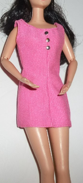 BARBIE Doll Clothing pink DRESS, Fashion Avenue tag