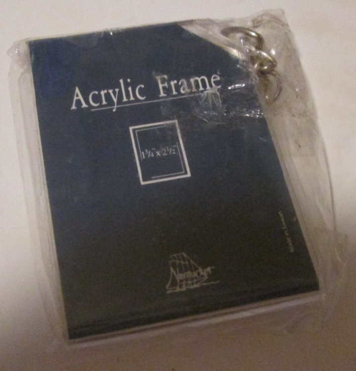 "ACRYLIC Photo FRAME keyring key chain 1.75x2.5"", MIP"