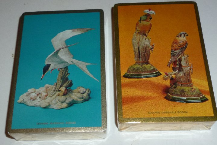 Double (2) Deck of EDWARD MARSHALL BOEHM birds playing cards MIP