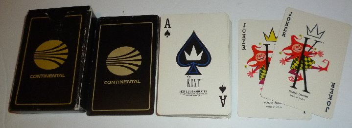 1 Deck of CONTINENTAL AirLines playing cards