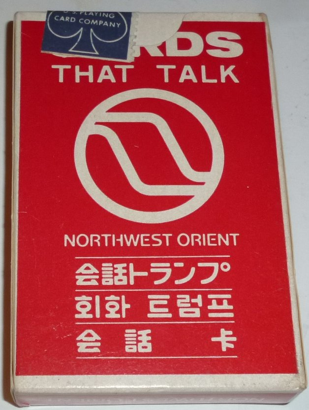 1 Deck NORTHWEST ORIENT AirLines CARDS THAT TALK playing cards