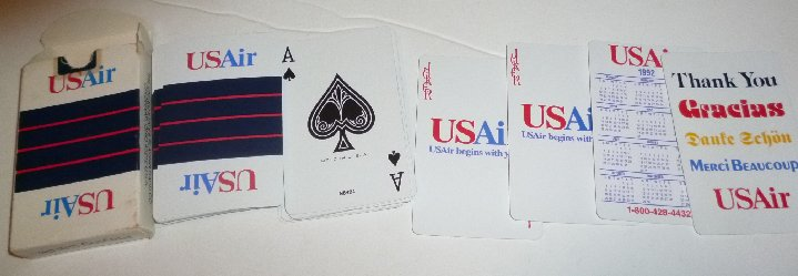 1 Deck 1992 US AIR AirLines playing cards