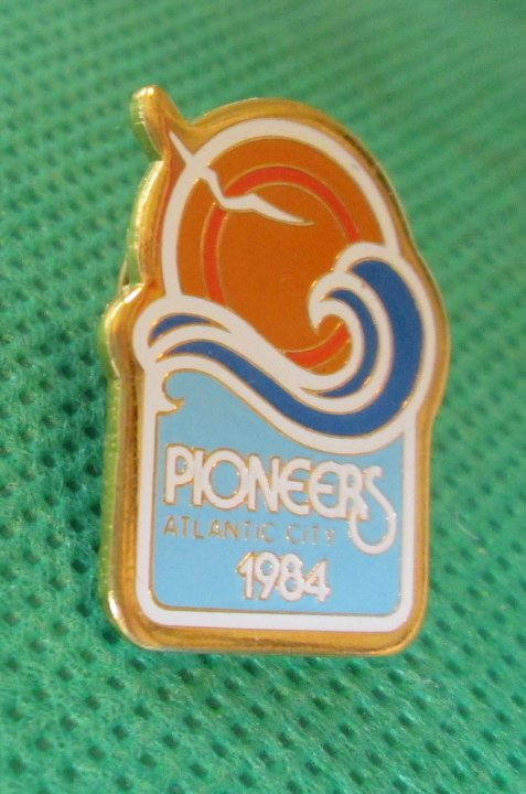 1984 Atlantic City PIONEERS pinback Pin 1""