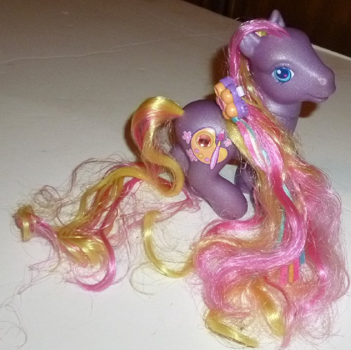 G3 MLP My Little Pony DIBBLE DABBLE with barrette
