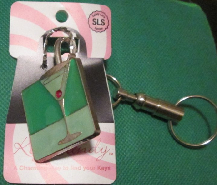 KEY CANDY CANE Soccer Ball metal keyring key chain MOC - Click Image to Close