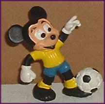 MICKEY MOUSE PVC Figure SOCCER Player Disney Prd Durham