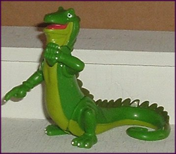Green LIZARD Poseable PVC Figure Toy 3.25""