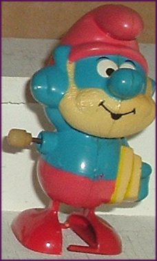 SMURFS Figure PAPA Smurf Wind-Up 1982 Galoob Peyo
