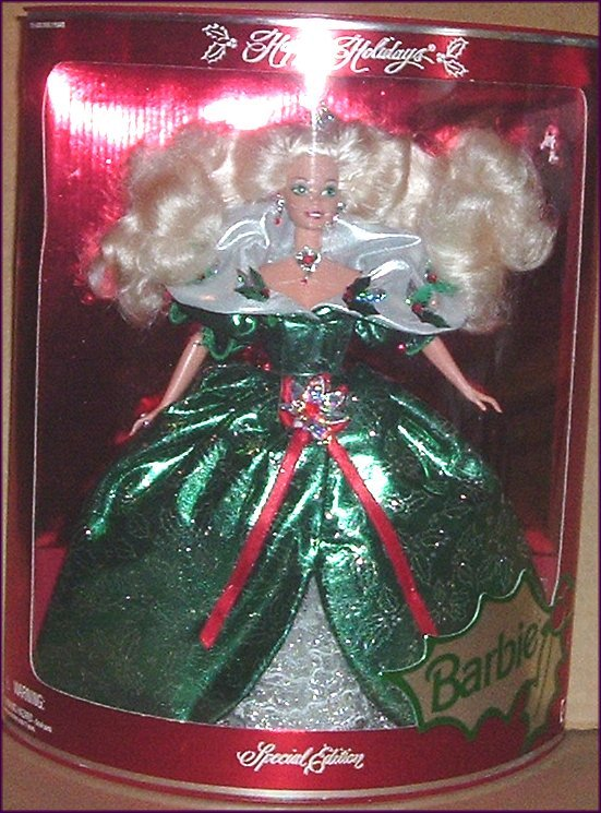 BARBIE Doll green Gown 1995 Holiday Special Ed NRFB