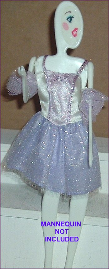 BARBIE Doll Fashion Clothes FANCY Lacy Party Dress