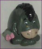 POOH Friend Gray EEYORE PVC Figure sitting Disney