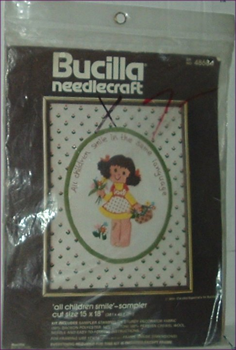BUCILLA Needlecraft Kit ALL CHILDREN SMILE Sampler MIP