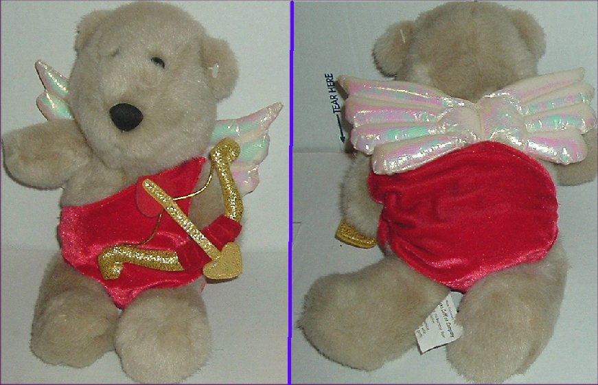 2001 STARBUCKS Plush #13 Bearista Bear CUPID