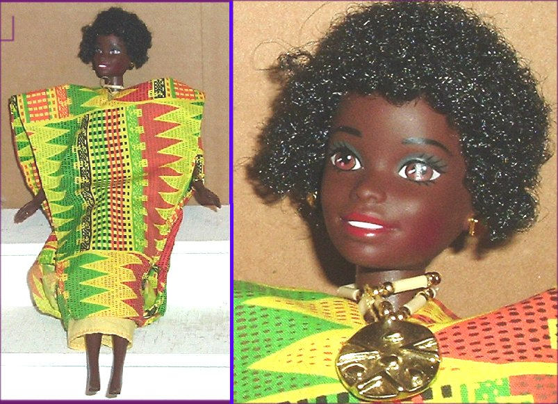 DOTW Dolls of the World BARBIE Doll Ghanian Dressed