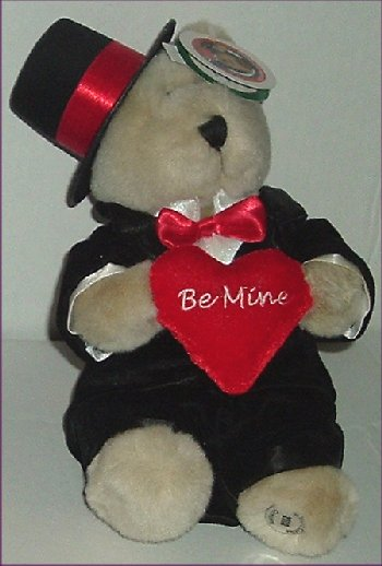 2002 STARBUCKS Plush 18 th Bearista Bear Tux Be Mine