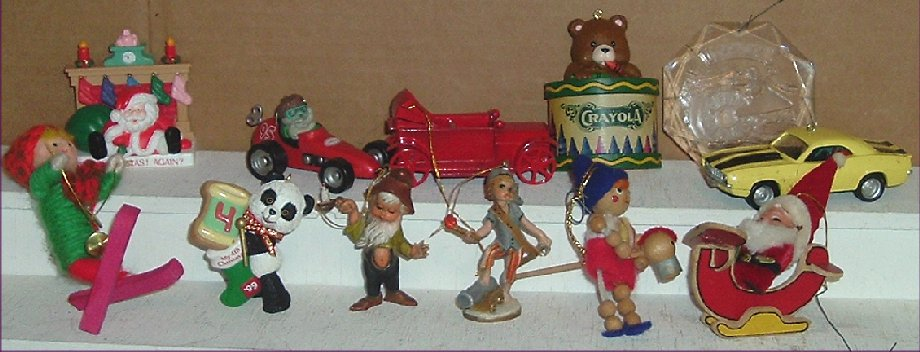 Collection of 12 Assorted XMAS Ornaments w/4 HALLMARK