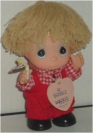 "PRECIOUS MOMENTS Hi Babies Cute Boy Doll 5"" w/tag"