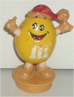 M&M Toppers TLC Yellow XMAS TOPPER, 1988 Mars
