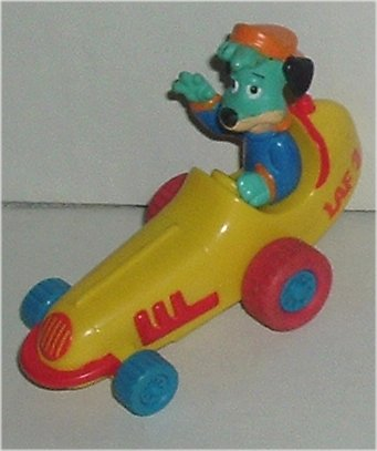 HUCKLEBERRY HOUND in race car fastfood toy