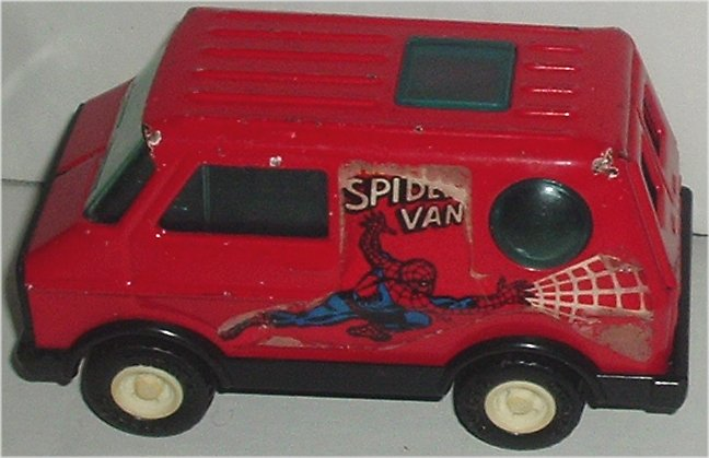 "Spider-Man SPIDERMAN VAN vehicle 4.5"" Buddy L Japan"