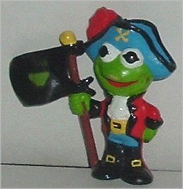 MUPPETS KERMIT Frog as Pirate PVC Figure 2.5""
