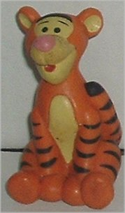 "POOH Friend TIGGER PVC Figure sitting 2.5"", Disney"