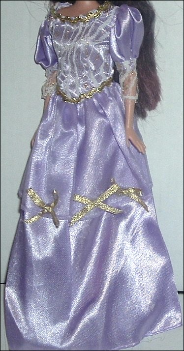 BARBIE Doll's Sexy purple w/lace trim evening GOWN