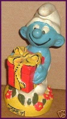 "SMURFS Smurf JOKEY Figure Toy 5.5"", 1982 Peyo Avalon"