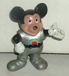 "MICKEY MOUSE PVC Figure in spacesuit 2"", Disney"