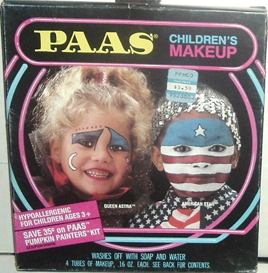 Vintage 1988 PAAS Children Halloween MAKEUP Kit MIB