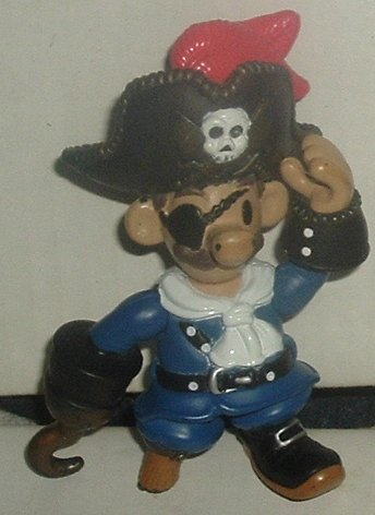 PIRATE Action poseable Figure 4""