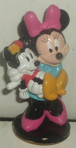 "MINNIE MOUSE PVC Figure w/baby minnie 2.5"", Disney"